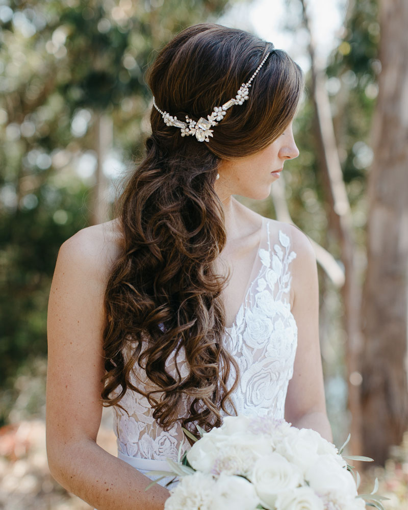 bridal hair big sur